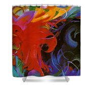 Fighting Forms 1914 Shower Curtain