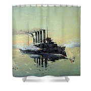 Fighting On July In The Yellow Sea Shower Curtain