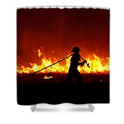 Fighting The Fire Shower Curtain