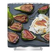 Figs Dessert With Mascarpone Shower Curtain