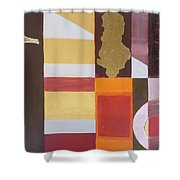 Figurativ Albanian Simbols Shower Curtain