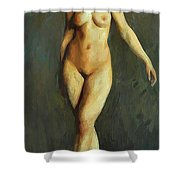 Figure In Motion 1913 Shower Curtain