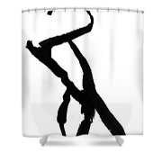 Figure Silhouette Shower Curtain