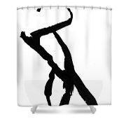 Figure Silhouette Shower Curtain