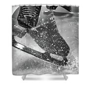 Figure Skating Abstract Shower Curtain
