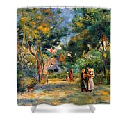 Figures In A Garden Shower Curtain
