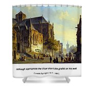 Figures On A Market Square In A Dutch Town 1843 Shower Curtain
