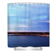 Figures On The Breakwater Shower Curtain