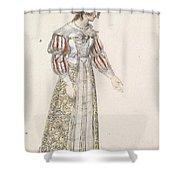 Figurine In Medieval Dress, Shower Curtain