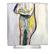 Figuring - Reticence Shower Curtain