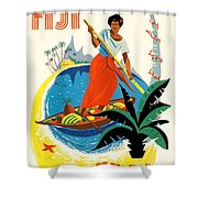 Fiji Fly By Teal Shower Curtain