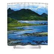 Fiji Rivermouth Robert Lyn Nelson Shower Curtain