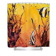 Fijian Friends Shower Curtain