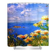 Filfla Fortitude Shower Curtain