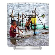 Filipino Fishing Shower Curtain