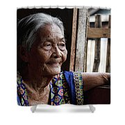 Filipino Lola - Image Number Fourteen  Shower Curtain
