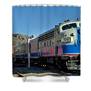 Fillmore And Western Railway Christmas Train 2 Shower Curtain