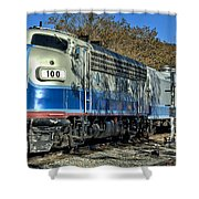 Fillmore And Western Railway Christmas Train 3 Shower Curtain