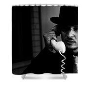 Film Noir Detective On Telephone Shower Curtain