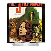 Film Noir Poster  The Third Man Shower Curtain