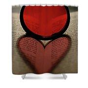 Filter Heart 2 Shower Curtain