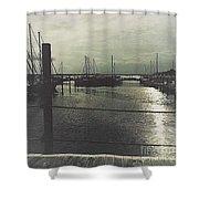 Filtered Marina Shower Curtain