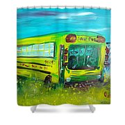 Final Bus Stop  Shower Curtain