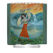 Final Fantasy Goddess  Shower Curtain