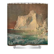 Final Study For The Icebergs Shower Curtain