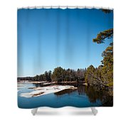 Final Winter Days On The Moose River Shower Curtain