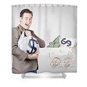 Finance And Money Growth Concept Shower Curtain