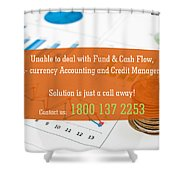 Financial Accounting Software Shower Curtain
