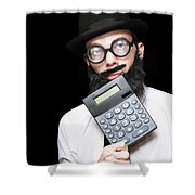Financial And Accounting Genius With Calculator Shower Curtain