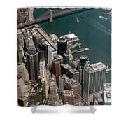 Financial District Nyc Aerial Photo Shower Curtain