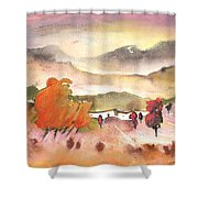 Finca In Spain Shower Curtain