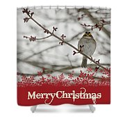 Finch Christmas Shower Curtain