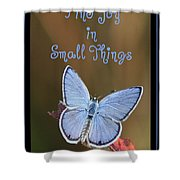 Find Joy In Small Things Shower Curtain