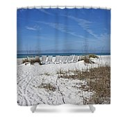 Finding Happiness Shower Curtain