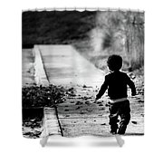 Finding My Way Home Shower Curtain