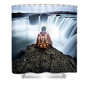 Finding Our Place Of Zen Shower Curtain