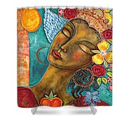 Finding Paradise Shower Curtain by Shiloh Sophia McCloud