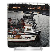 Fine Art- Boats St Ives Harbour Shower Curtain