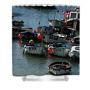 Fine Art- Boats St Ives Shower Curtain