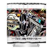 Fine Art Chopper II Shower Curtain