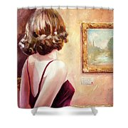 Fine Art Gallery Opening Night Shower Curtain