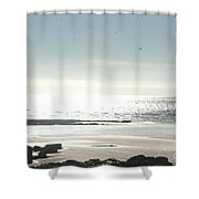 Fine Art - Waves Part 2 Shower Curtain