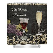 Fine French Wines - Vins Beaux Parisiens Shower Curtain