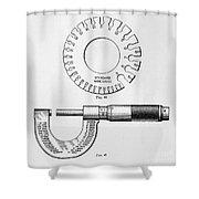 Fine Measurement Gauges  Shower Curtain
