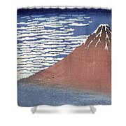 Fine Weather With South Wind Shower Curtain by Hokusai