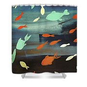 Finestra Di Pesci Shower Curtain